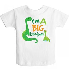 Inktastic Little Boys' I'm A Big Brother Dinosaur Toddler T-Shirt 3T White - Brought to you by Avarsha.com