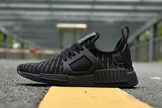 2b293d3fee5d0 adidas NMD XR1 zebra All black Running Shoes