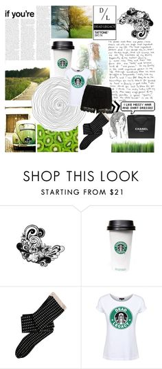 """""""Feels good"""" by mssantos ❤ liked on Polyvore featuring PATH, Dead Legacy, SELECTED, Chanel, vintage, GREEN, starbucks and deadlegacy"""