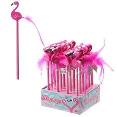STA21 - Espositore di Matite - Fenicottero con Piuma   Puckator IT  #partybag #kid #idee #compleanno #bambini 