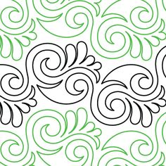 "Plume - Paper - 9"" - Quilts Complete - Continuous Line Quilting Patterns"