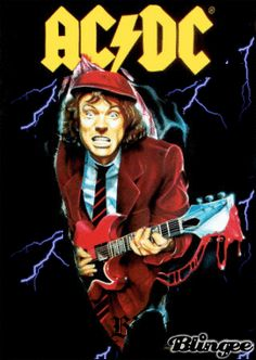 Angus Young and Bon Scott of AC/DC. Description from pinterest.com. I searched for this on bing.com/images