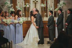 Cool ceremony flowers -- Wedding :: Lauren & Matt
