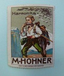 Reklamemarke Harmonika M. Hohner