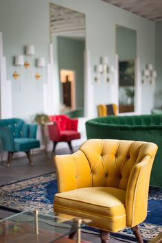 Love the jewel toned furniture pieces. #reupholstery #customfurniture #interiordesign