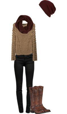 winter clothing. Not a fan of winter, but very cute!