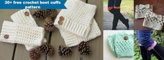 30+ free crochet boot cuffs pattern by jennyandteddy