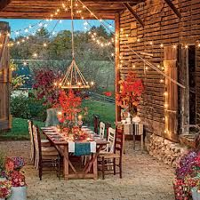 Beatiful outdoor living for on those cool nights in the Fall