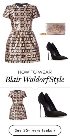 """Blair Waldorf's Style (Inspired)"" by marta-isabella on Polyvore featuring moda, RED Valentino, Casadei y Chanel"