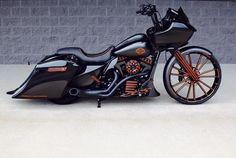 A custom Harley-Davidson Road Glide by BX Custom Designs. #harleydavidsonroadglidecustom