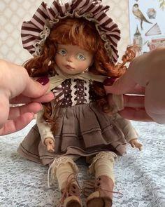Handmade Gifts Videos For Sister - Handmade Unique Gifts For Sister, Sister Gifts, Doll Clothes Patterns, Doll Patterns, Baby Hat Patterns, Victorian Dolls, Vintage Dolls, Cute Dolls, Tiny Dolls