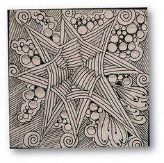 Zentangle Challenge #78 (m - a number of celtic knots at end of blog)