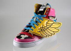 reputable site eaf1f d5a84 Kickswall » 2NE1 x Jeremy Scott x adidas Originals JS Wings Jeremy Scott  Wings, Pop