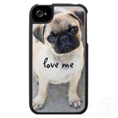 love me - pug iPhone case