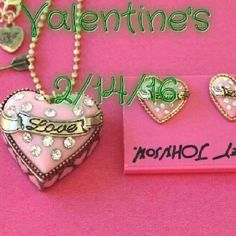 "Betsey Johnson Pink Heart-Shaped Locket Necklace ❤Beautiful Valentine Statement Necklace Set❤  Necklace Length: 30"" x extension 3"" Pendant Length: 30mm x 35mm x 28mm Earring Length: 16mm x 16mm  ❤Valentine's Day 2/14/2016❤ Betsey Johnson Jewelry Necklaces"