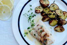 Stekt torsk med råstekte poteter!