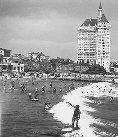The History Of Surfing In Long Beach, California Long Beach California, Hotel California, Southern California, Seventh Wave, Beach Villa, Historical Images, Beach Photos, Wonderful Places, Paris Skyline