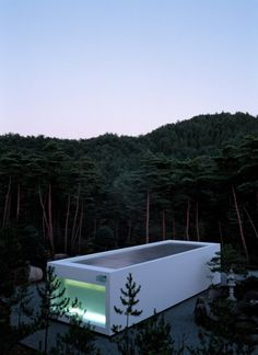 House as tub in the forest