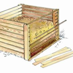 Gardening Compost - Build this simple, wooden compost bin from salvaged material