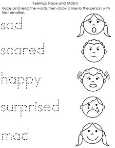 Emotion Coloring Pages