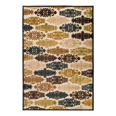 Rug with a multicolor medallion motif.    Product: RugConstruction Material: 60% Viscose and 40% acrylic chenille...