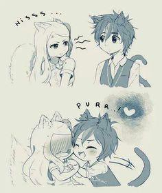 Fairy Tail Happy x Carla neko people
