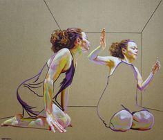 Por amor al arte: Cristina Troufa Human Figure Artists, Painting Inspiration, Art Inspo, Cristina Troufa, Portrait Acrylic, Different Kinds Of Art, A Level Art, Portraits, Art Sketchbook