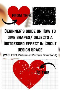A step by step tutorial (with images) on how to add a distressed, grunge, cracked or any texture effect for that matter to an object or shape in Cricut Design Space Vinyle Cricut, Cricut Vinyl, Cricut Mat, Crafts For Teens To Make, Diy And Crafts, Easy Crafts, Wood Crafts, Vinyl Projects, Craft Projects