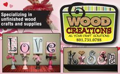 Be Craftastic! $20 Gift Certificate for $10 to Wood Creations