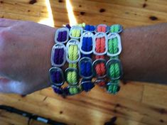 Items similar to Recycled soda can pop tops with color cord made into CAUSE bracelets on Etsy