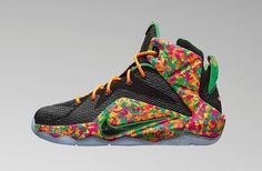 Nike will be giving the little ones another exclusive colorway of the Nike LeBron 12 later this month. Inspired by something kids (and adults) love very much, cereal, this Lebron 12 is as colorful as a sneaker can possibly get.