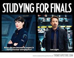 When studying for finals…
