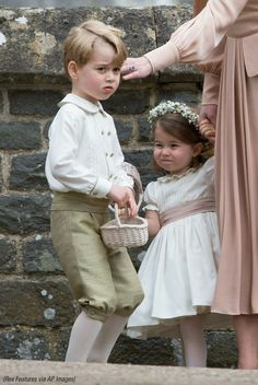 Prince George and Princess Charlotte at Pippa's wedding