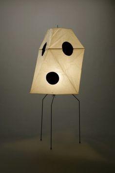 Akari Light Sculpture, UF Series, Model No. UF3-Q, Ozeki Lantern Co. Isamu Noguchi.