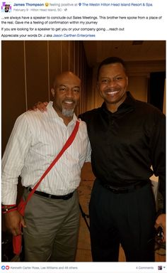 Enjoyed speaking at Carestream's National Sales Meeting on Hilton Head Island! Powerful time with good people like James Thompson! Be on the lookout for this brother with a good heart and wisdom. #99NFL #SpeakerJC #Leadership