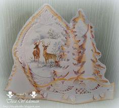 Thea's eigen gemaakte kaarten: Hertjes in de winter