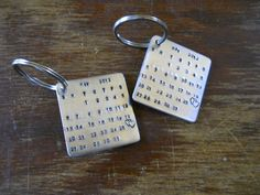 Wedding, Graduation, Anniversary, Save the Date, Calendar, Personalized, Customizable Keychain