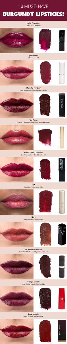 Make Up Look For 2017 Picture Description Vamp It Up! The Burgundy Lipstick Kiss Makeup, Love Makeup, Makeup Tips, Makeup Looks, Hair Makeup, All Things Beauty, Beauty Make Up, Hair Beauty, Lipsticks