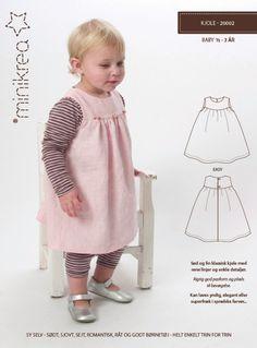 Kindermode - Schnittmuster ❤ Mädchen Kleid Hängerchen Minikrea - ein Designerstück von Villa-Stoff bei DaWanda