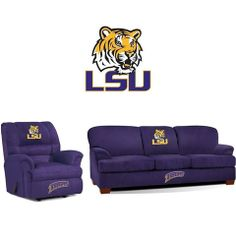Use this Exclusive coupon code: PINFIVE to receive an additional 5% off the Louisiana State University Tigers Microfiber Furniture Set at SportsFansPlus.com