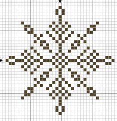 Снежинки – схемы для вышивки крестиком