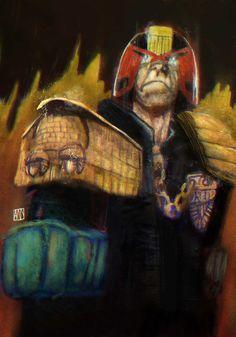 Judge Dredd on Behance 2000ad, Judge Dredd, Behance, Photoshop, Fan Art, Comics, Reading, Creative, Illustration