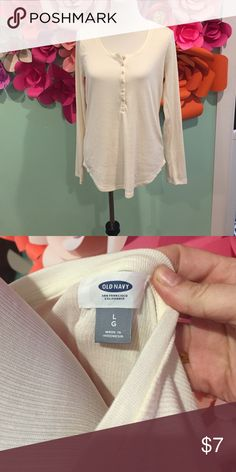 Old Navy Henley NWOT Cream colored Henley from Old Navy, never worn, great condition. Old Navy Tops Tees - Long Sleeve