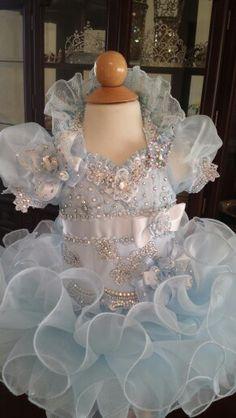 Adorable Cinderella inspired medium glitz pageant dress by Royalty Designs www.royaltydesigns.net