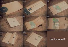 Mit wenigen Handgriffen verwandelst du ein A4 Blatt Papier in eine zuverlässige CD Hülle.