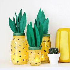 diy pour transformer un bocal en verre / diy mason jar