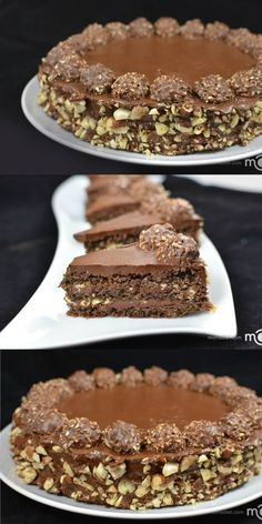 Ferrero Rocher Cake Recipe- my guest are always happy with this cake.