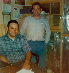 Rod Reader and Ed Downes inside the original but not so roomy office.