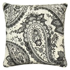 Laura Hill for Home Dynamix Paisley Chenille Decorative Pillow Gray - CH801-451