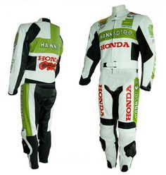 $299.00 - Honda Green and White Race Replica Suit